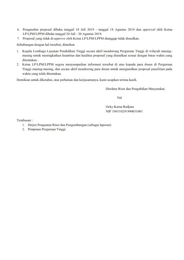 Pemberitahuan Penerimaan Proposal Penelitian Tahun 2019 untuk Pendanaan Tahun 2020-2022_002